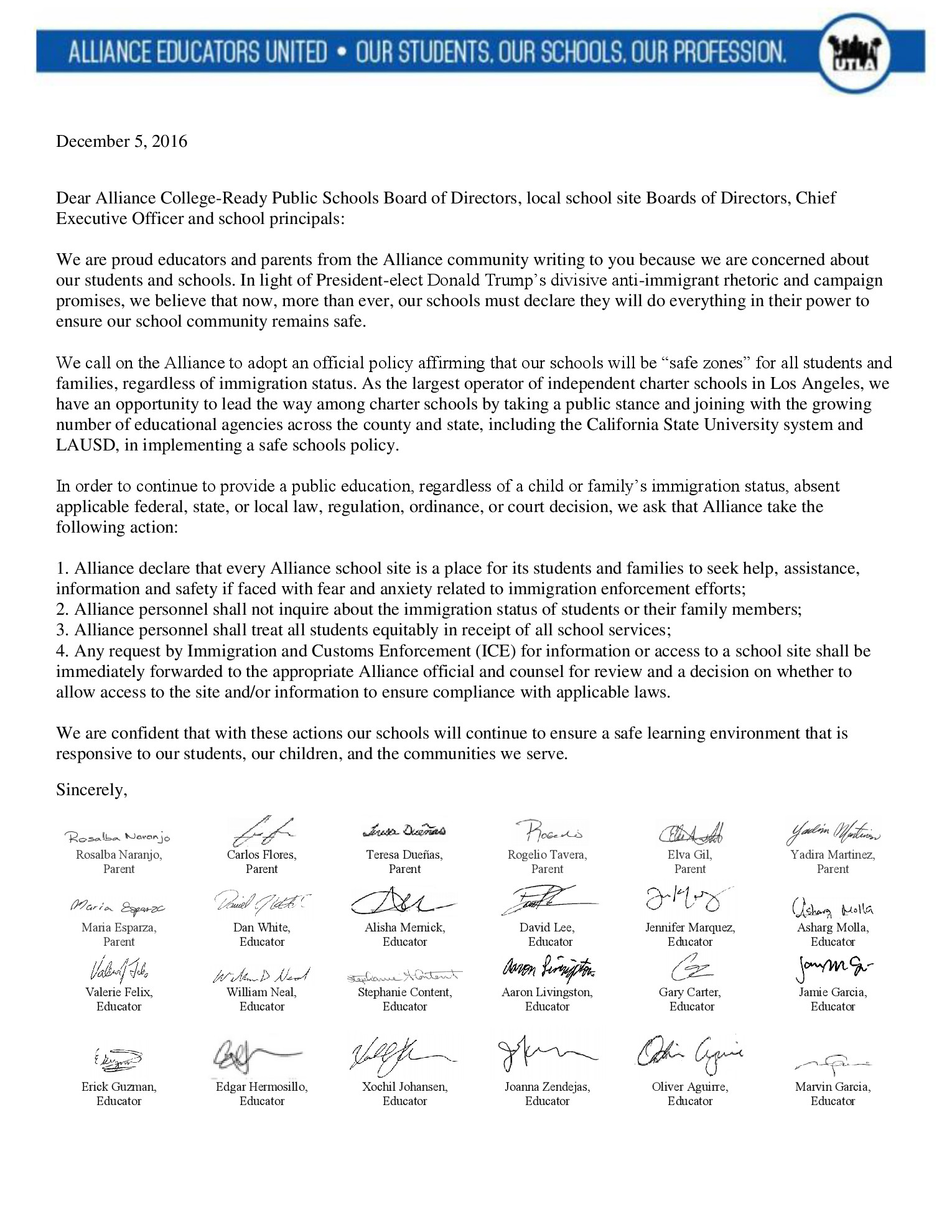 December 5 2016 Alliance ICE Letter final_ENGLISH version